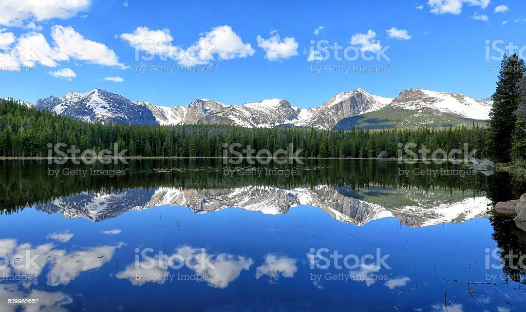 Bierstadt Lake Reflection stock photo
