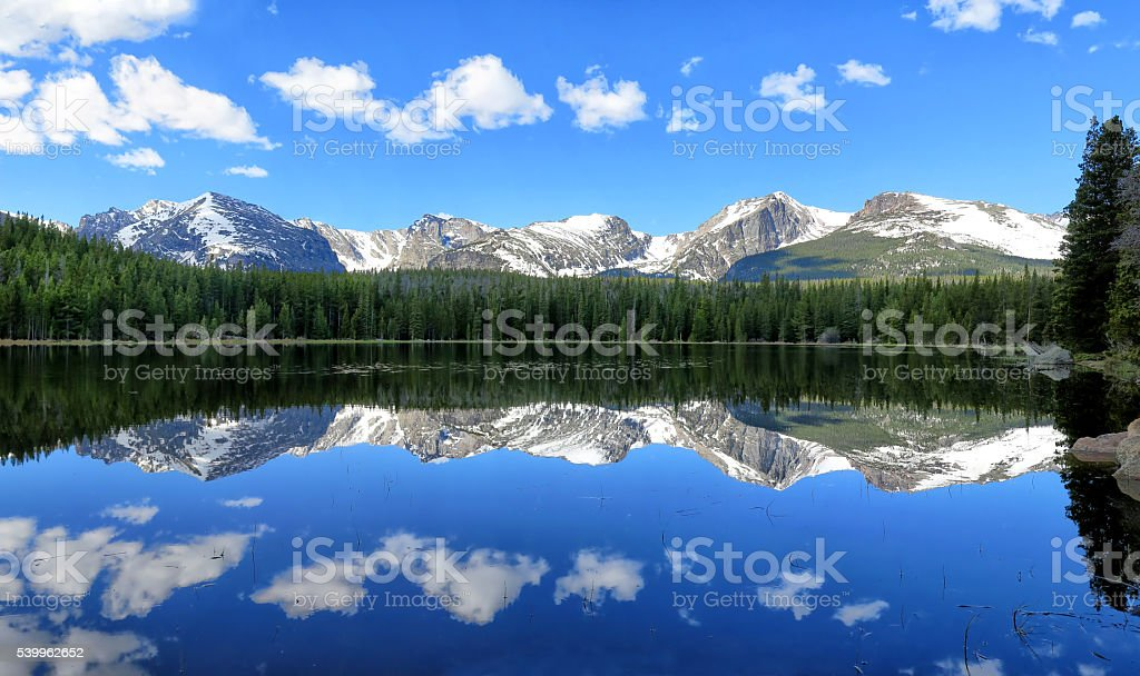 Bierstadt Lake Reflection stock photo