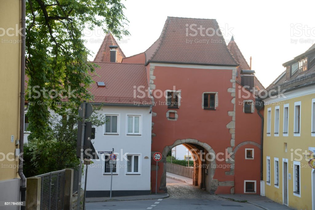 Biertor at Cham, Germany stock photo