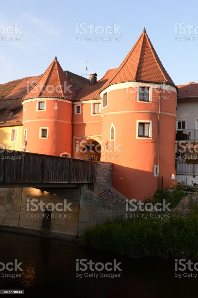 Biertor in Cham, Germany stock photo