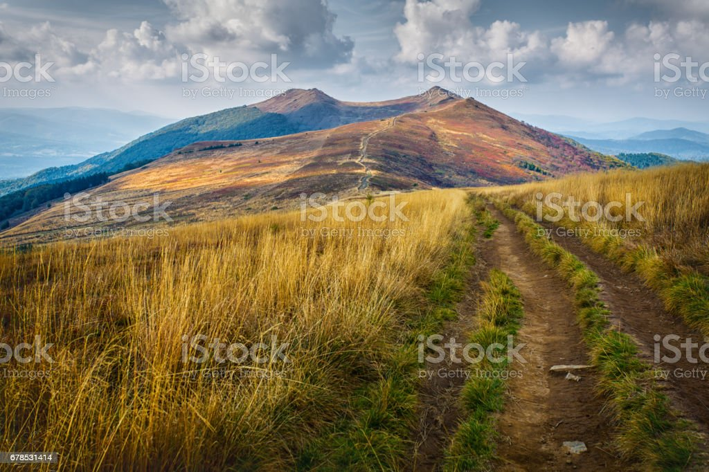 Bieszczady - mountains in Poland stock photo