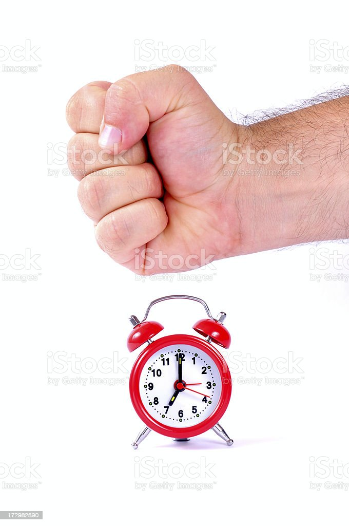 biff on the alarm clock royalty-free stock photo