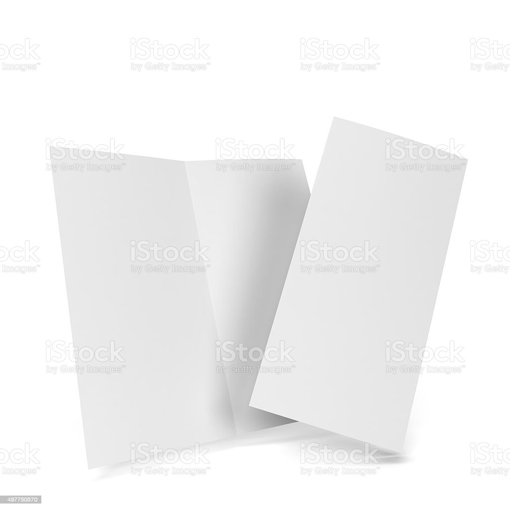 Bi-fold brochure stock photo