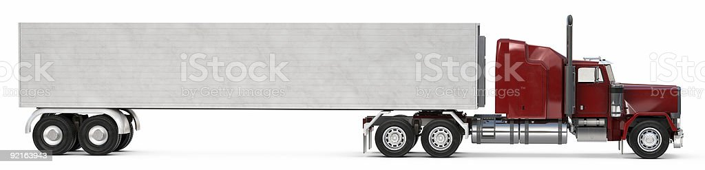 Big 18 wheeler royalty-free stock photo