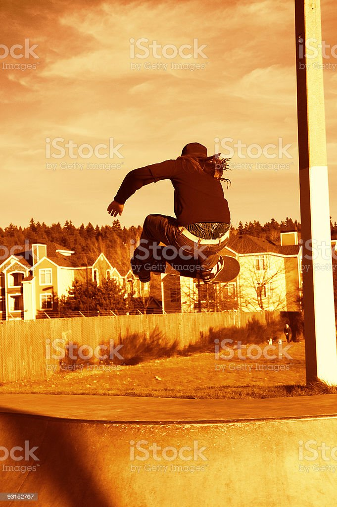 Big Air over the Hip - Orange stock photo