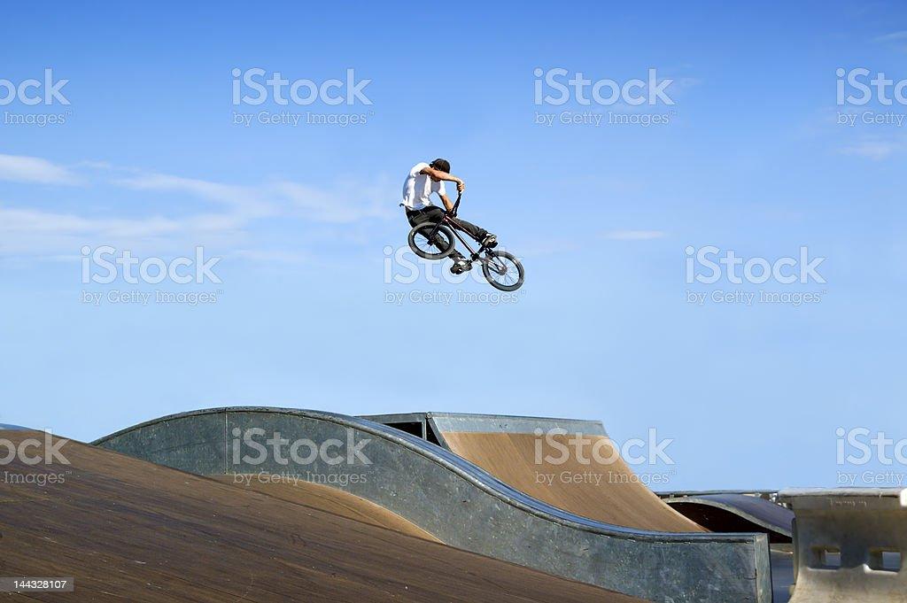 BMX Big air stock photo