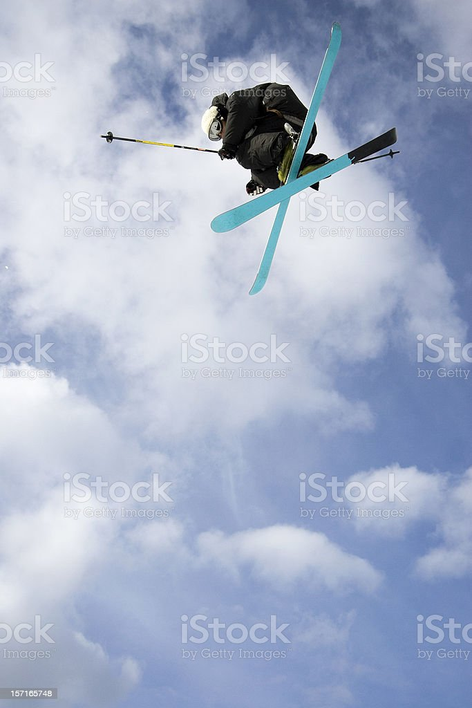 Big Air Skier stock photo