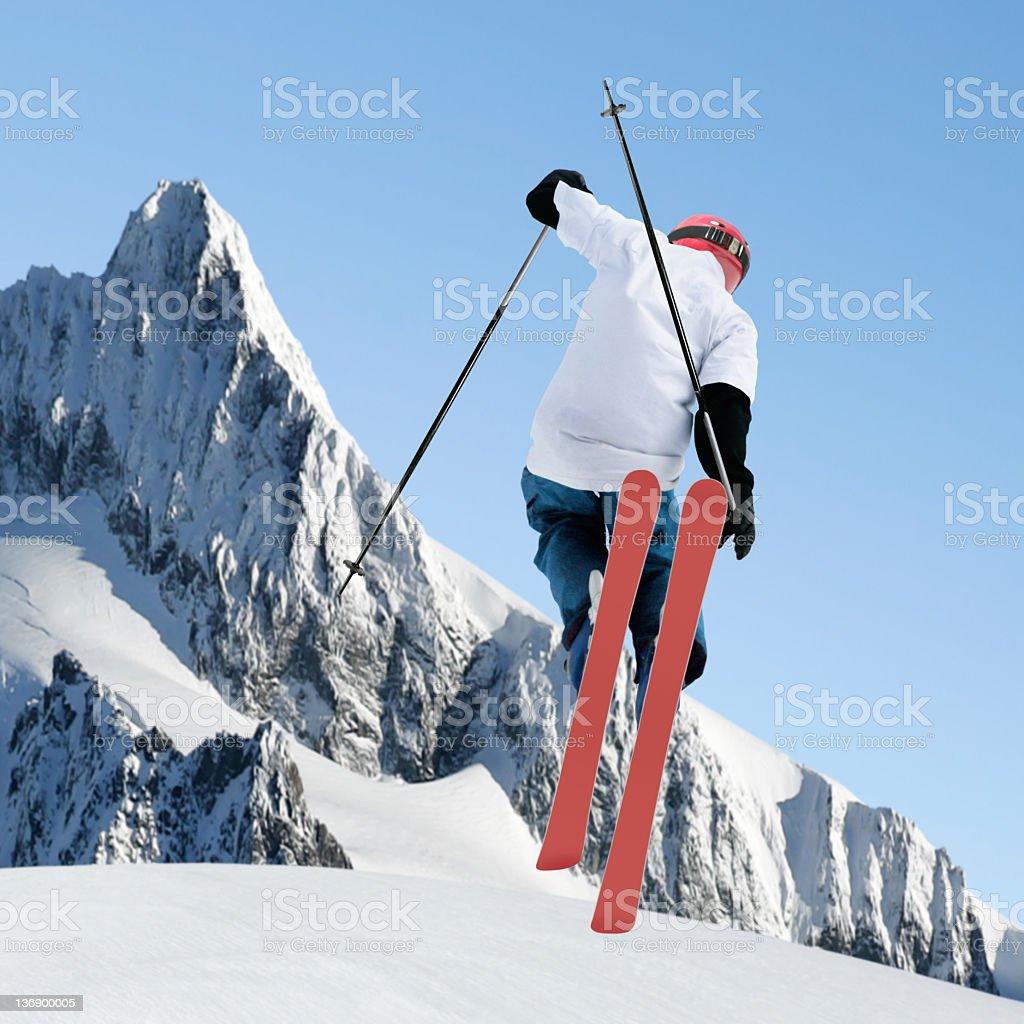 big air skiing royalty-free stock photo