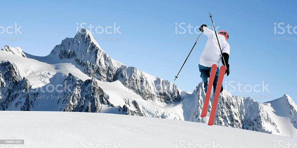 XL big air skiing royalty-free stock photo