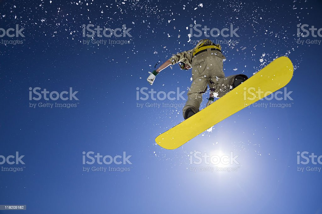 big air snowboard jumping royalty-free stock photo