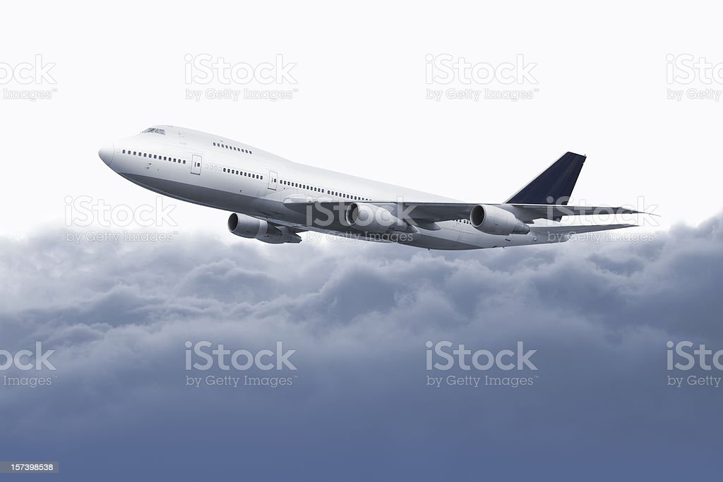 Big airplane over the clouds royalty-free stock photo