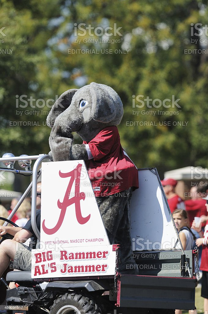 Big Al in University of Alabama Homecoming Parade stock photo