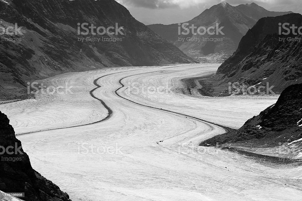 Big Aletsch Glacier, Swiss Alps royalty-free stock photo