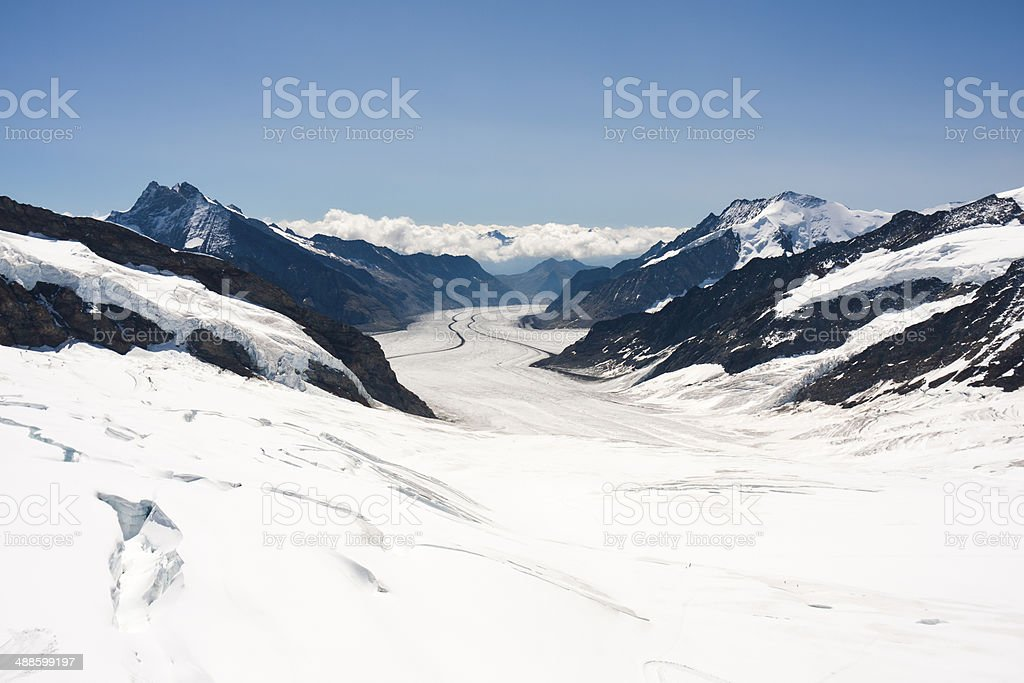 Big Aletsch Glacier, Swiss Alps royalty-free stock photo