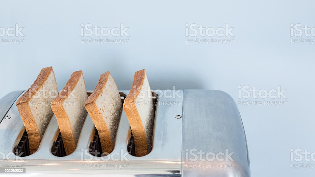 Big Aluminum toaster stock photo