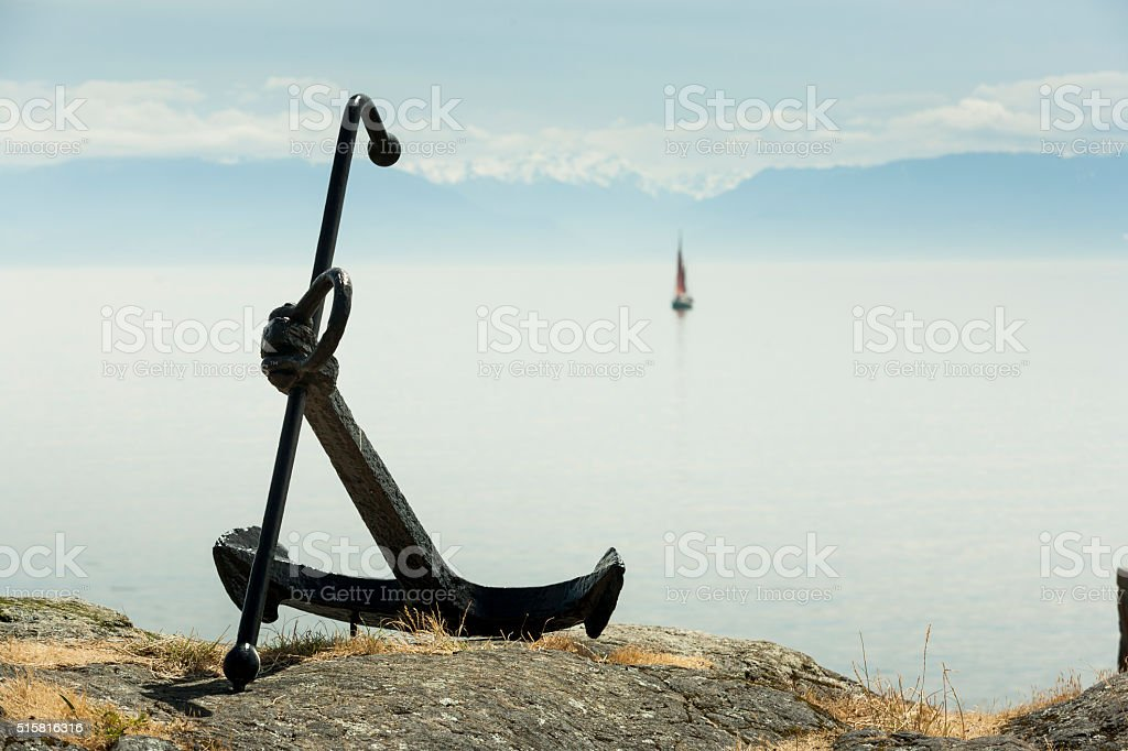 Big anchor stock photo