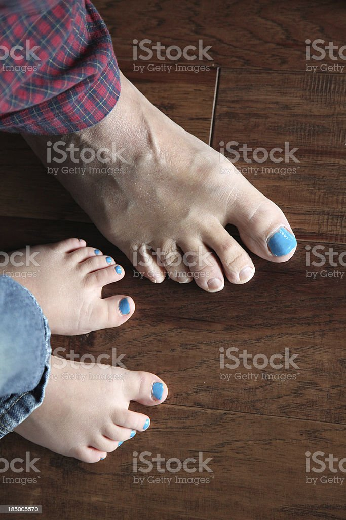 Big and Little Blue Toenails royalty-free stock photo