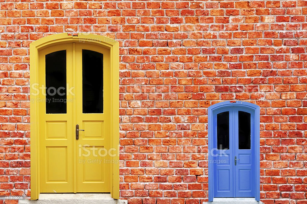 Big And Small Door stock photo