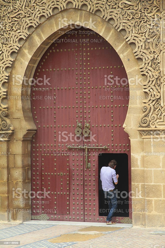 Big and small gate stock photo
