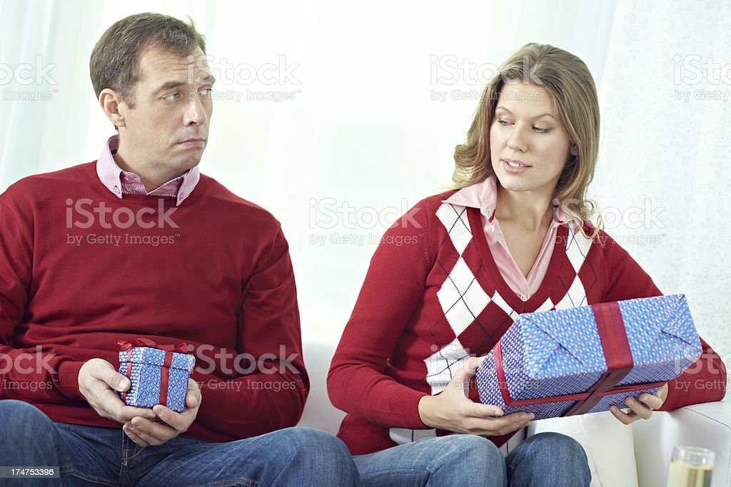Big and small present royalty-free stock photo