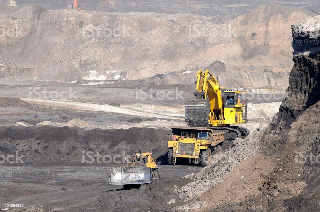 Big and tough mining equipment stock photo