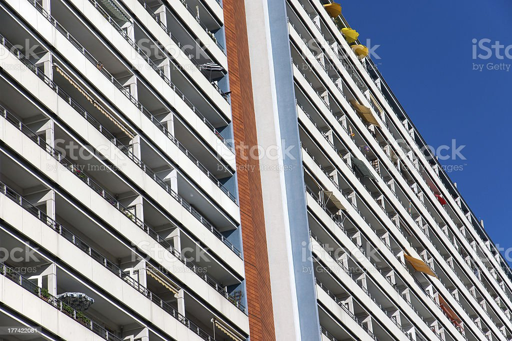 Big apartment building in Berlin stock photo