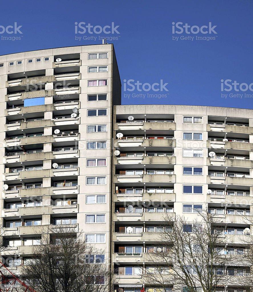 Big apartment houses stock photo
