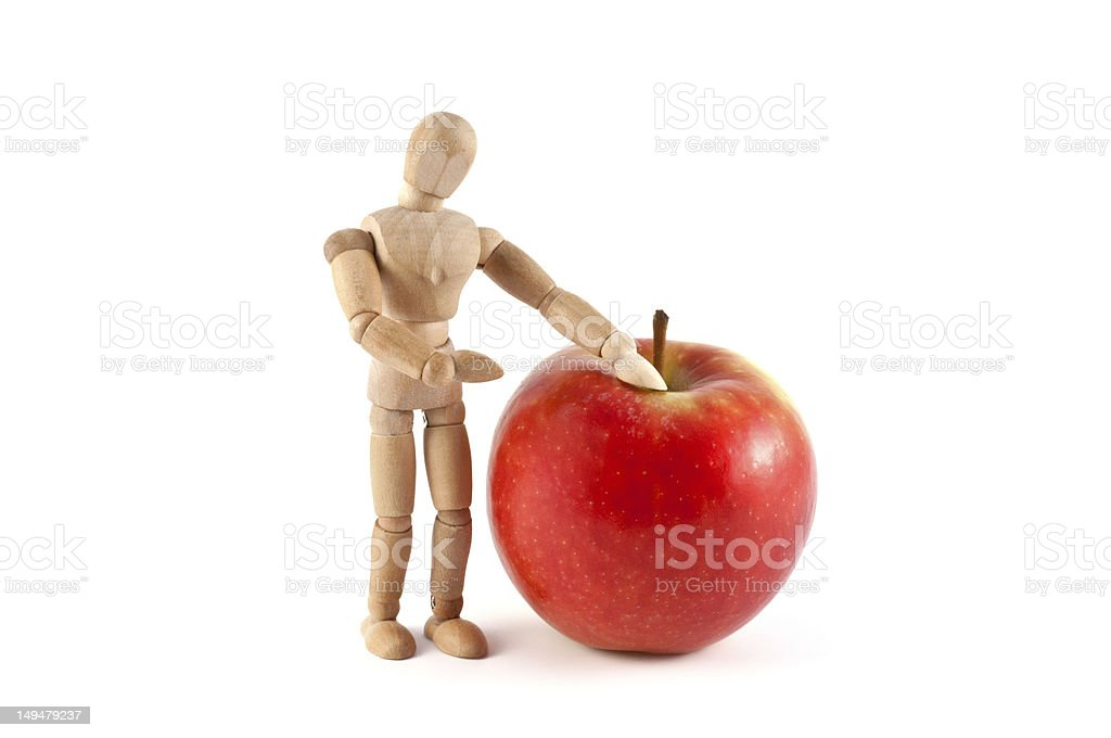 Big apple - Mannequin and healthy food stock photo