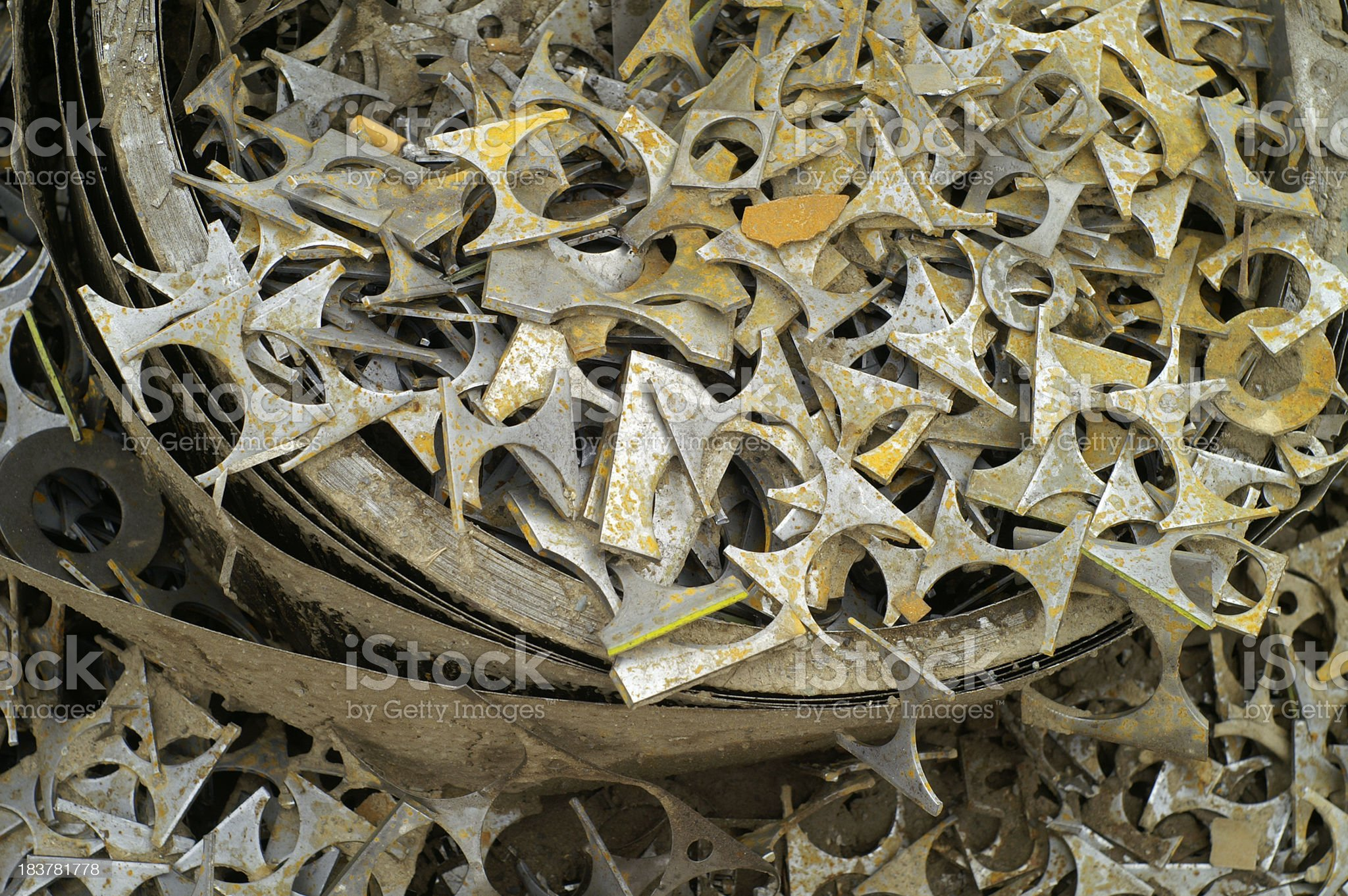 A big assortment of scrap metal royalty-free stock photo