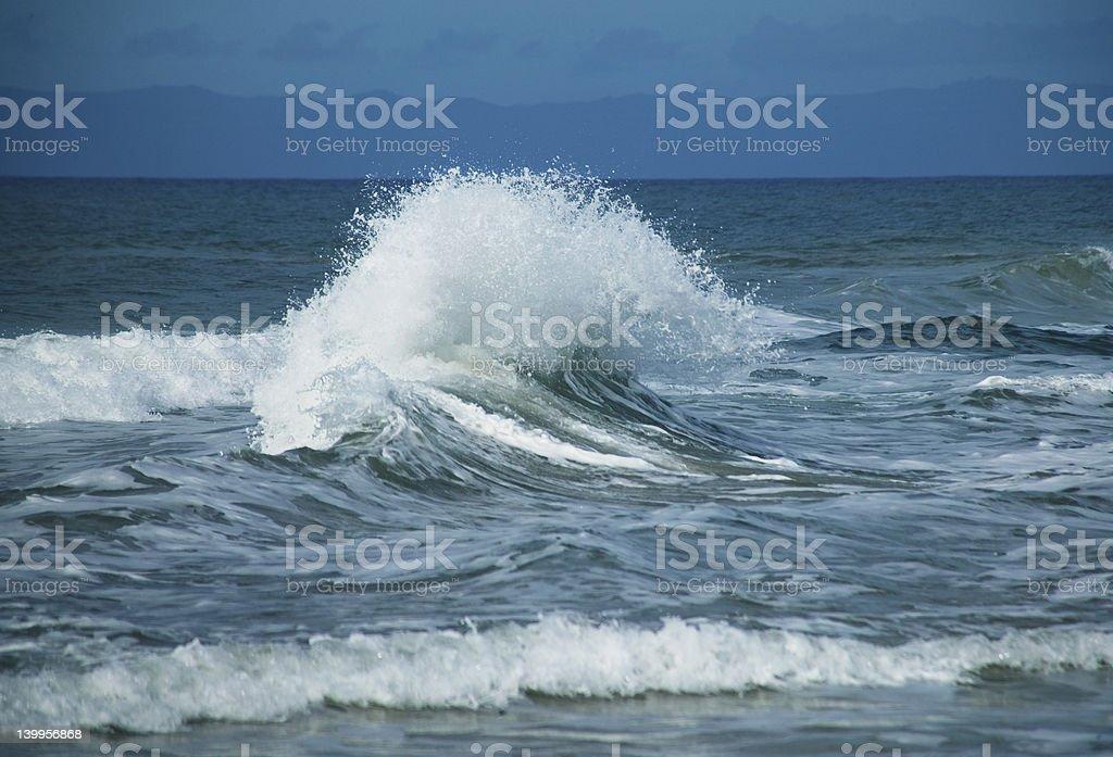 Big back splash wave. royalty-free stock photo