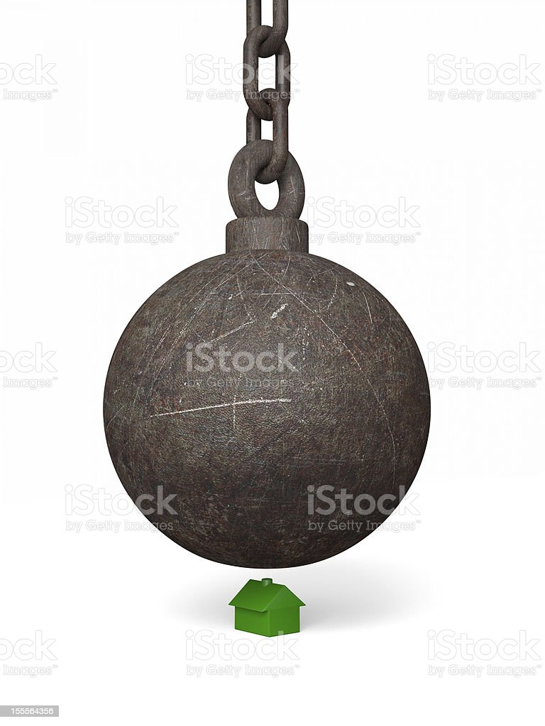 Big Bad Wrecking Ball stock photo