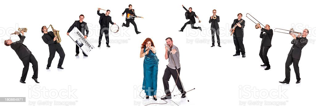 Big Band Portrait (XXXL resolution!) stock photo
