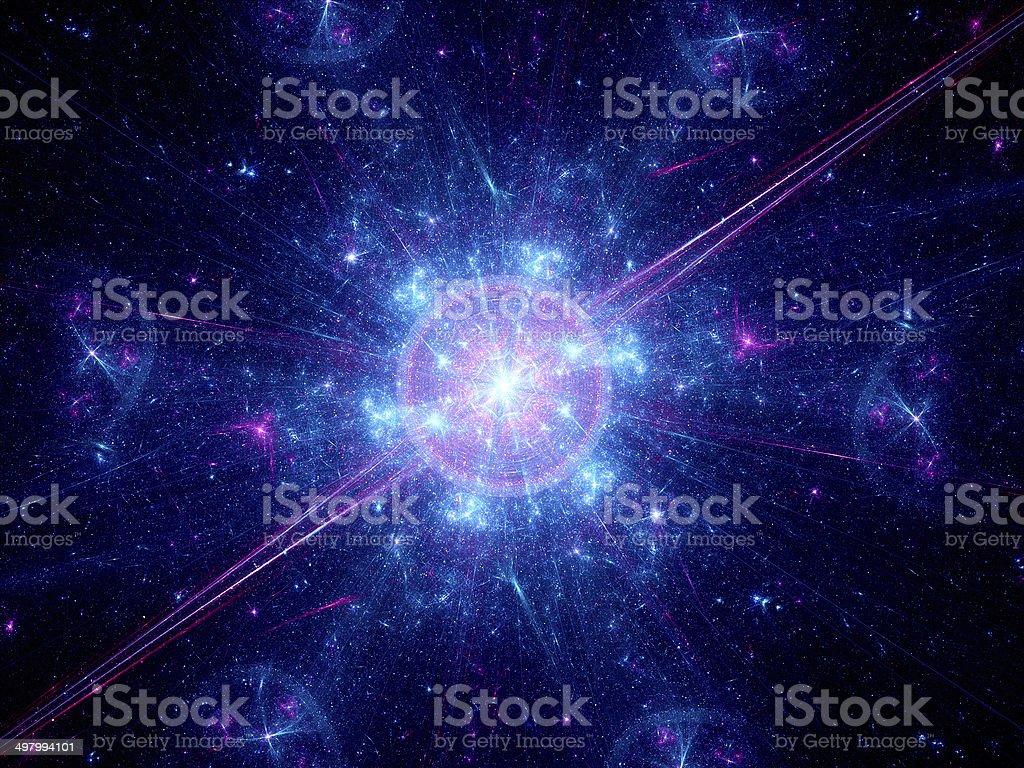 Big bang in space royalty-free stock photo