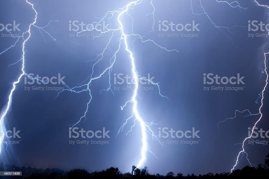 Big Bang Lightning Stike stock photo