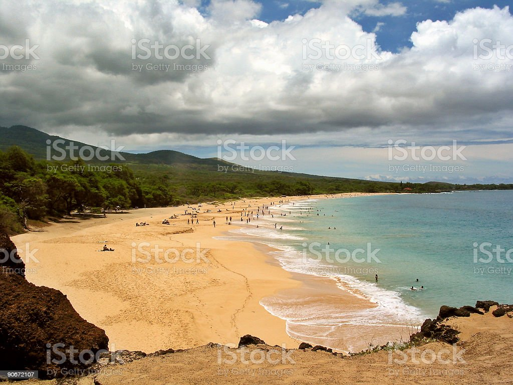 Big Beach, Maui, Hawaii royalty-free stock photo