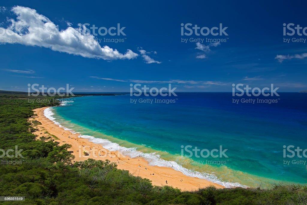 Big Beach, or Oneloa, south Maui, Hawaii, USA stock photo