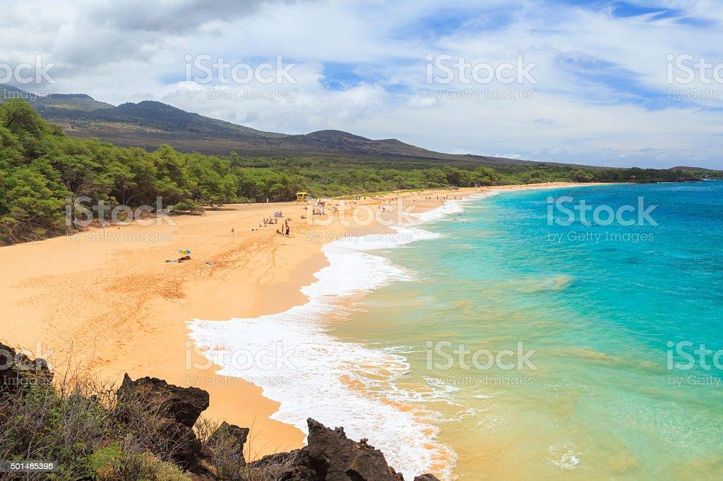 Big Beach, south Maui, Hawaii stock photo