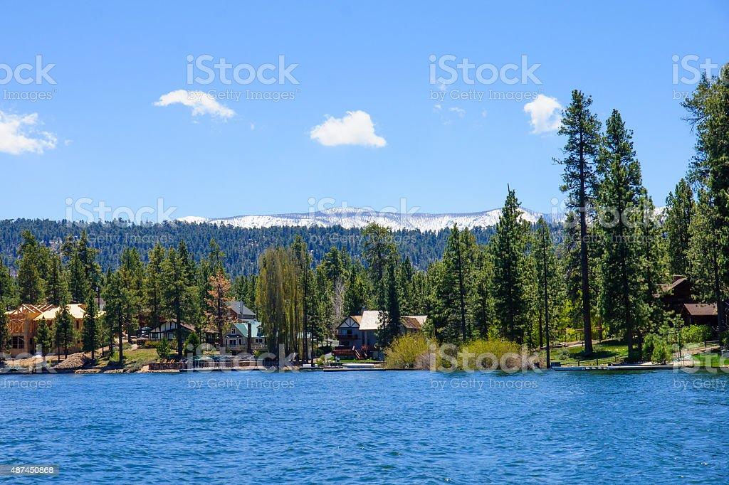 Big Bear Lake Landscape stock photo