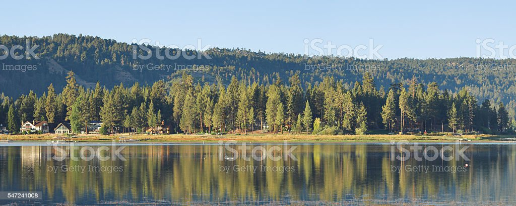 Big Bear Lake Panorama - California stock photo