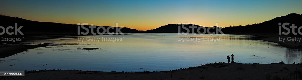 Big Bear Lake Sunset - California stock photo