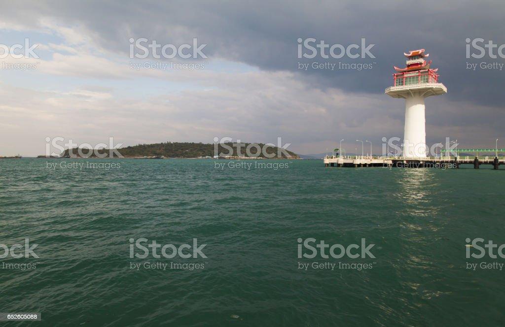 Big beautiful lighthouse stock photo