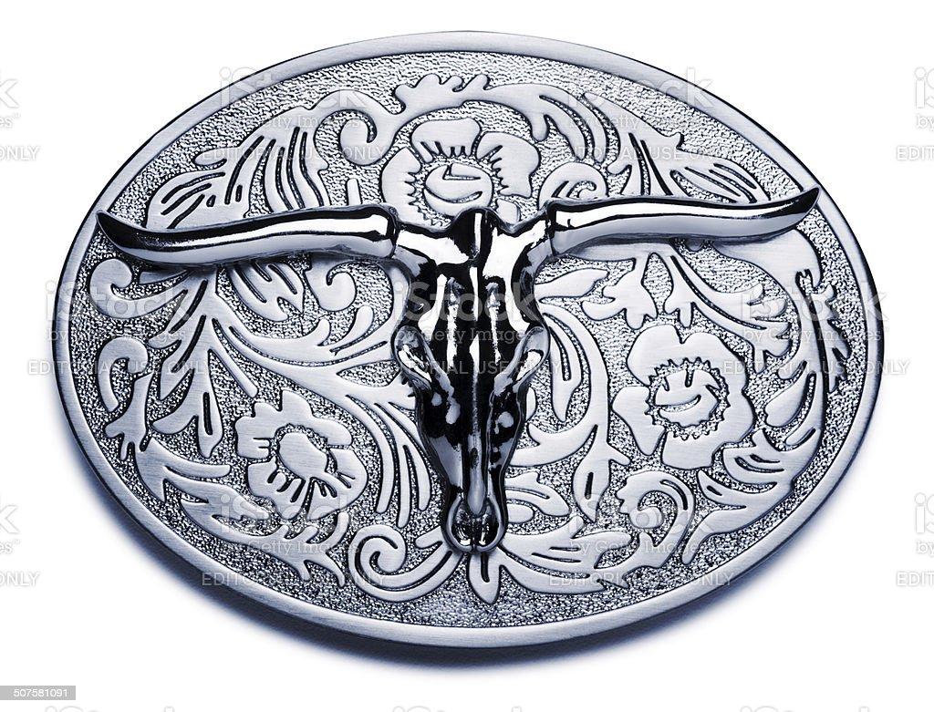 Big Belt Buckle on White stock photo
