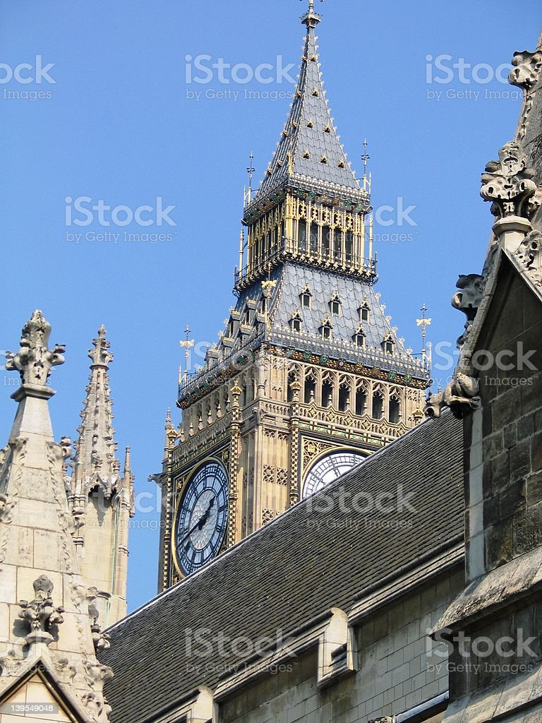 Big Ben a little after noon stock photo