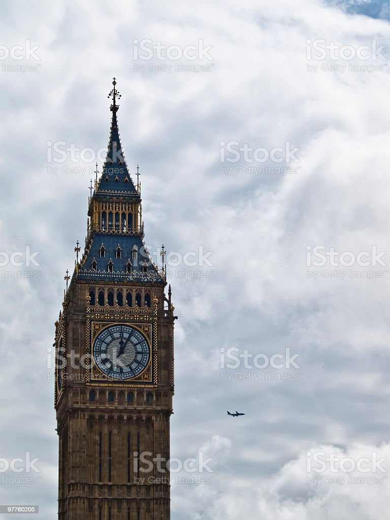 Big ben against cloudy royalty-free stock photo
