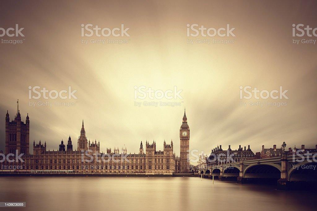 Big Ben & Parliament in London royalty-free stock photo