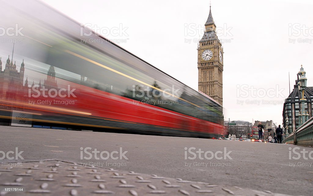 Big Ben and bus royalty-free stock photo