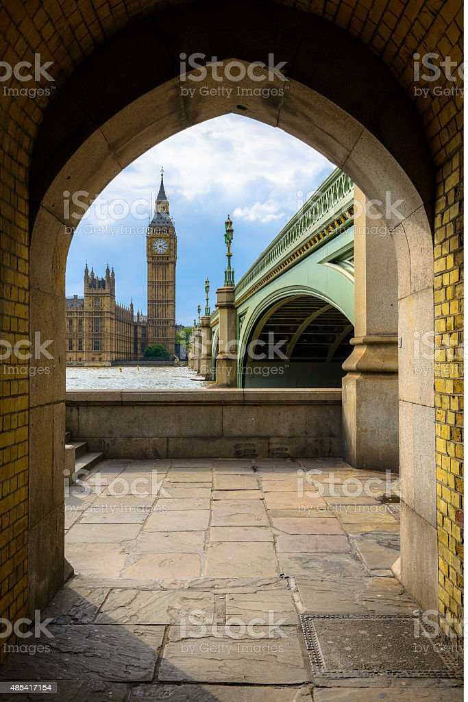 Big Ben and Houses of Parliament in a Frame, London stock photo