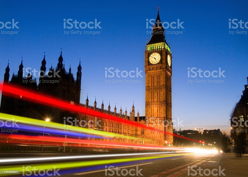 Big Ben and Houses of Parliament in London royalty-free stock photo