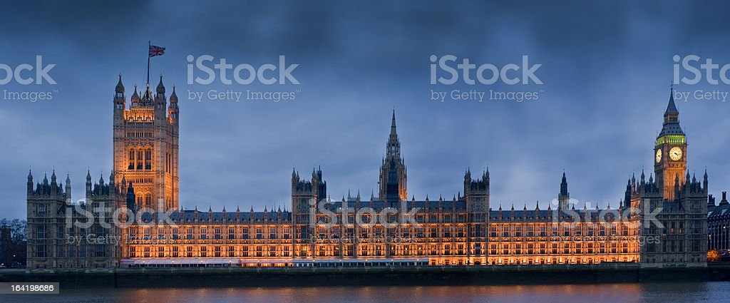 Big Ben and Houses of Parliament London royalty-free stock photo