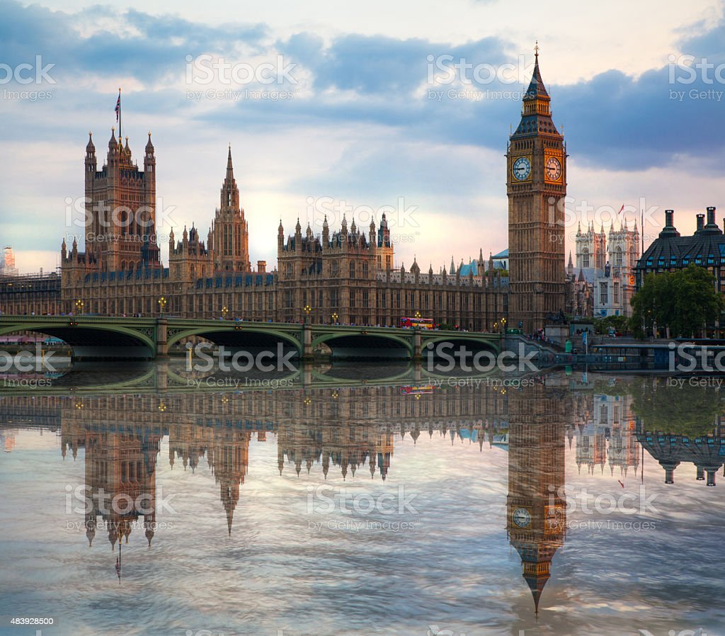 Big Ben and Houses of Parliament. London stock photo